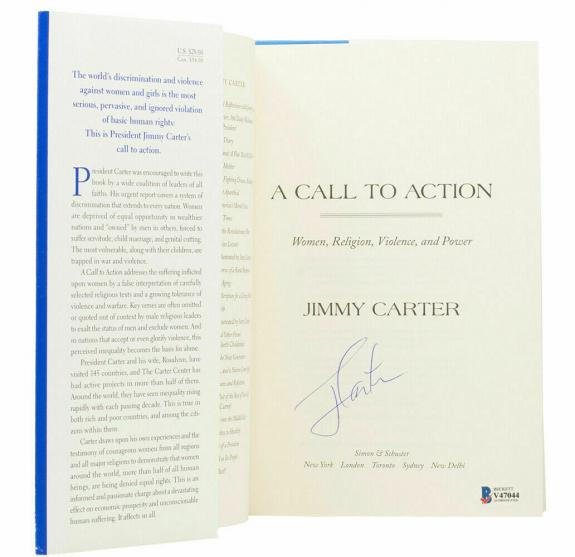 Jimmy Carter Signed A Call To Action Book BAS
