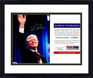 Jimmy Carter Signed - Autographed 39th US President 8x10 inch Photo + PSA/DNA Authenticity