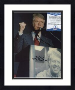 Autographed Jimmy Carter Photo - Color 8x10 Great Pose!!