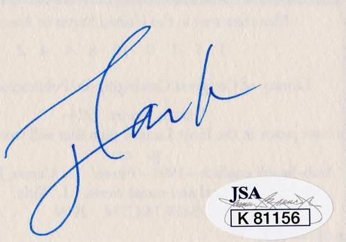 Jimmy Carter Signed Autographed Cut JSA Authenticated