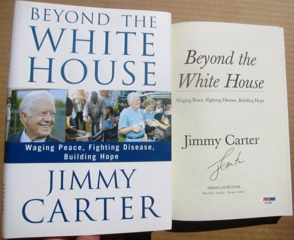 Jimmy Carter signed book Beyond the White House 1st Print PSA/DNA Authentic