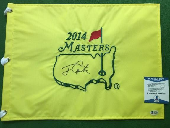 Jimmy Carter Signed Masters Flag JSA Certificate Of Authenticity! President