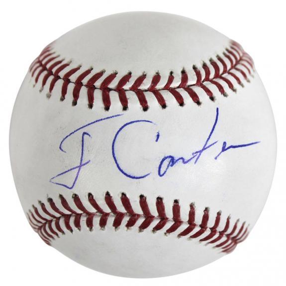Jimmy Carter Signed OML Baseball Autographed BAS #B44981