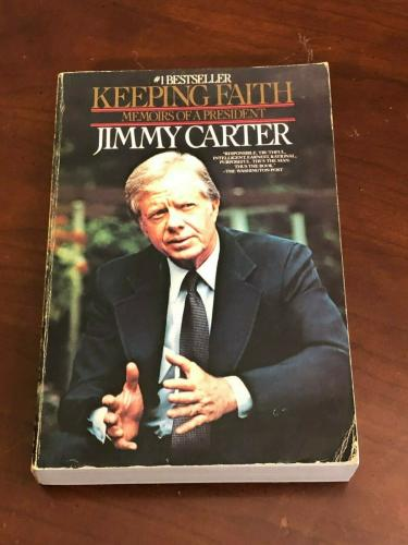 Jimmy Carter US President Nobel Prize Keeping Faith Signed Autograph Book COA