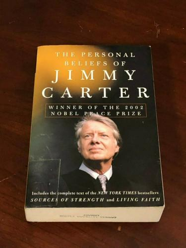 Jimmy Carter US President Nobel Prize Personal Beliefs Signed Autograph Book COA
