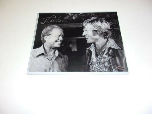 Jimmy Carter Us President W/robert Redford Actor W/holo Signed 8x10 Photo