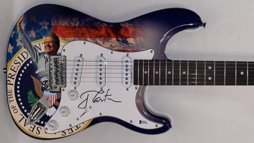 Jimmy Carter Usa President Signed Full Size Custom Electric Guitar Auto Beckett
