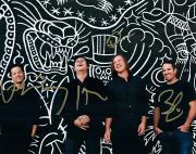 Jimmy Eat World Signed Graffiti Backdrop Photo AFTAL UACC RD RACC TS