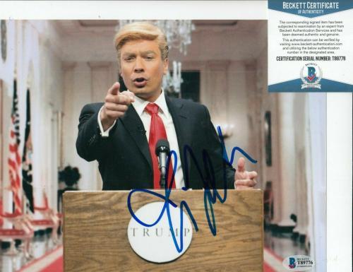 JIMMY FALLON signed (DONALD TRUMP) autographed SNL 8X10 photo BECKETT BAS T89776