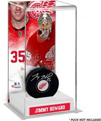 Jimmy Howard Detroit Red Wings Deluxe Tall Hockey Puck Case
