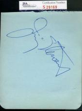 Jimmy James Stewart Vintage Jsa Coa Signed Album Page Authentic Autograph