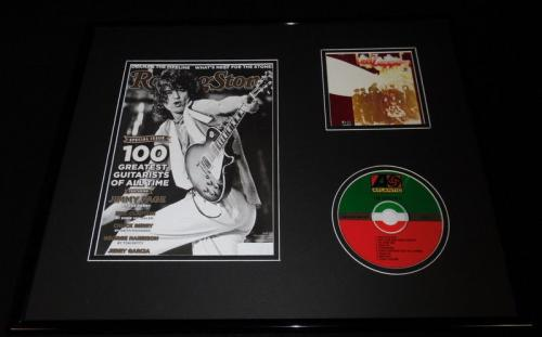 Jimmy Page 16x20 Framed Led Zeppelin II CD & 2011 Rolling Stone Display
