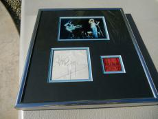 Jimmy Page Led Zeppelin 1973 Signed Cut Framed W Ticket & Photo PSA Certified