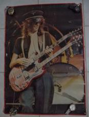 Jimmy Page Led Zeppelin 1978 Original Poster 24x33 Vintage Authentic