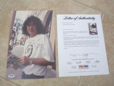 Jimmy Page Led Zeppelin Candid Signed Autographed 9x12 Photo PSA Certified