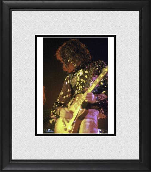 """Jimmy Page Led Zeppelin Framed 8"""" x 10"""" Performing on Stage Photograph"""