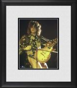 "Jimmy Page Led Zeppelin Framed 8"" x 10"" Playing Guitar Photograph"