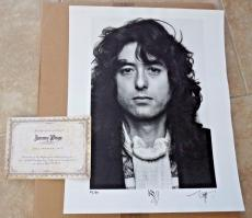 Jimmy Page Led Zeppelin Rare 1977 Signed Autographed 16x20 Photo #42/50 Page COA