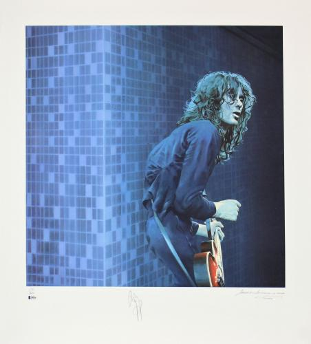 Jimmy Page Led Zeppelin Signed 30x33 LE Artist Print Litho #231/300 BAS #A05236