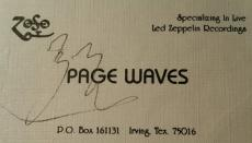 Jimmy Page Led Zeppelin Signed Authentic Autograph PSA/DNA John Bonham ??