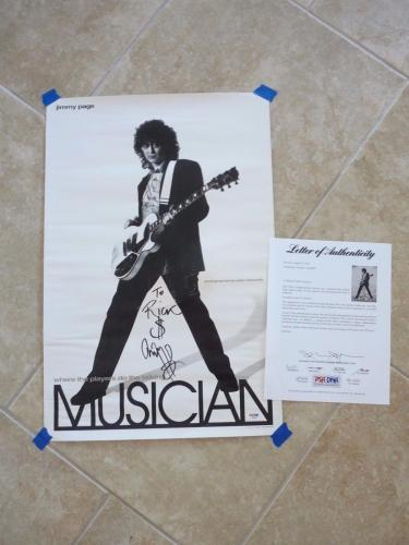 Jimmy Page Led Zeppelin Signed Autographed 16x24 Poster PSA Certified READ