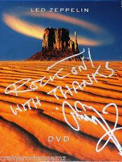 "Jimmy Page Led Zeppelin Signed Autographed DVD PSA/DNA AUTHENTIC ""ROCK ON"