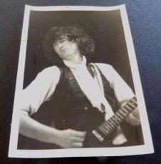 Jimmy Page Led Zeppelin Vintage 1985 3.5x5 Live Concert Photo READ