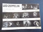 Jimmy Page Robert Plant Led Zeppelin 1976 Live Concert Photo Contact Proof Sheet