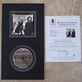 Jimmy Page & Robert Plant Signed Autographed 10x18 CD Display BAS Certified