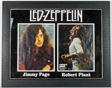 Jimmy Page & Robert Plant Signed & Framed Led Zeppelin Photo Display PSA AA08905