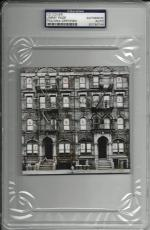 "Jimmy Page Signed ""physical Graffiti"" Cover Led Zeppelin Psa/dna Encap 83786746"