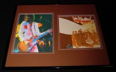 JImmy Page Smoking Framed 16x20 Photo Display Led Zeppelin