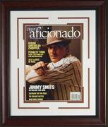 Jimmy Smits Signed Cigar Aficionado Framed Display
