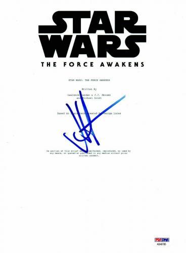 Jj Abrams Autograph Star Wars The Force Awakens Signed Script Psa Coa