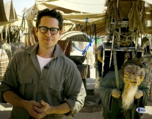 """J.J. Abrams Autographed 11"""" x 14""""- Behind The Scenes With Hands Together Star Wars The Force Awakens Photograph Beckett COA"""