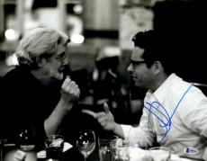 """J.J. Abrams Autographed 11"""" x 14"""" Talking With George Lucas Star Wars The Force Awakens Photograph Beckett COA"""