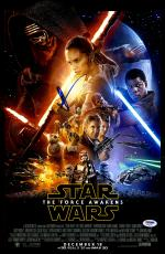 "J.J. Abrams Autographed 12"" x 18"" Star Wars he Force Awakens Movie Poster - PSA/DNA"