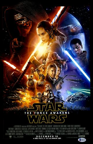 "J.J. Abrams Autographed 12"" x 18"" Star Wars The Force Awakens Movie Poster- Beckett COA"