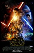 "J.J Abrams Autographed 12"" x 18"" Start Wars The Force Awakens Movie Poster - PSA/DNA"