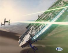 """J.J. Abrams Autographed 8""""x 10"""" Star Wars: The Force Awakens Millennium Falcon Photograph - BAS COA"""