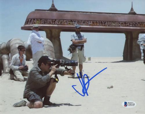 """J.J. Abrams Autographed 8""""x 10"""" Star Wars: The Force Awakens with Camera Photograph - BAS COA"""