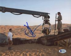 "J.J. Abrams Autographed 8""x 10"" Star Wars: The Force Awakens with Daisy Ridley Photograph - BAS COA"