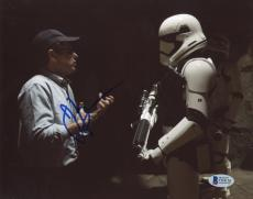"J.J. Abrams Autographed 8""x 10"" Star Wars: The Force Awakens with Storm Trooper Photograph - BAS COA"