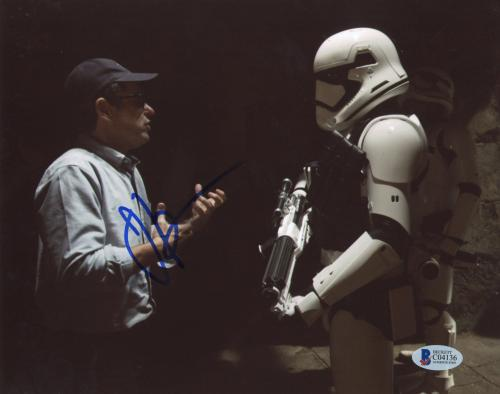 """J.J. Abrams Autographed 8""""x 10"""" Star Wars: The Force Awakens with Storm Trooper Photograph - BAS COA"""