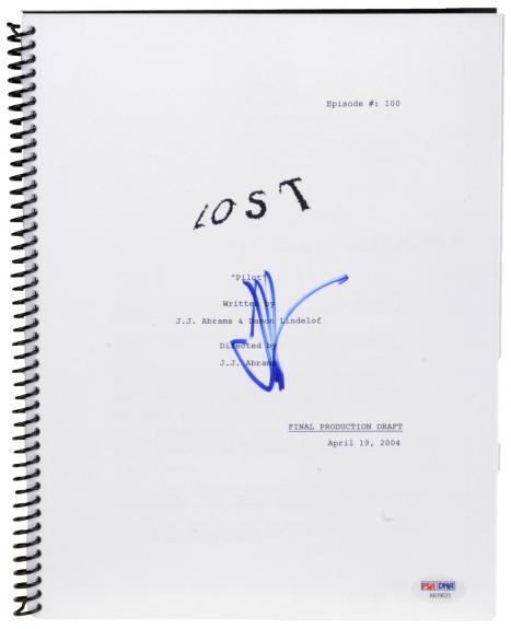 J.J Abrams Autographed Lost Replica Script- PSA/DNA