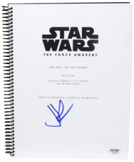 J.J Abrams Autographed Star Wars The Force Awakens Replica Movie Script- PSA/DNA