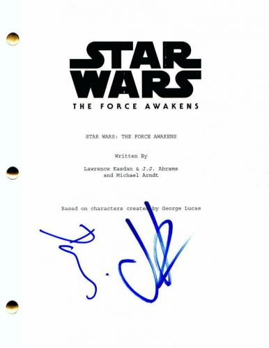 Jj Abrams Daisy Ridley Signed Autograph Star Wars The Force Awakens Movie Script