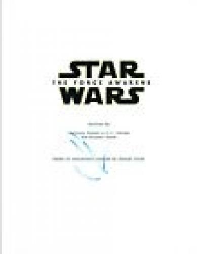 JJ Abrams J.J. Signed Autographed STAR WARS THE FORCE AWAKENS Script COA AB