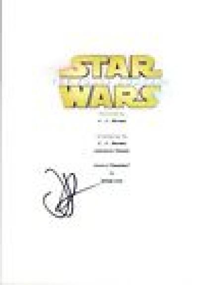 JJ Abrams J.J. Signed Autographed STAR WARS THE FORCE AWAKENS Script COA VD