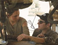 JJ Abrams Signed 11x14 Photo BAS COA Star Wars The Force Awakens w/ Daisy Ridley